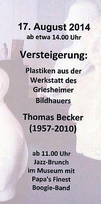 Flyer Versteigerung Thomas Becker