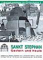 Plakat Ausstellung SANKT STEPHAN - Gestern und Heute 1948 - 2008
