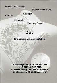 Plakat Ausstellung Zeit