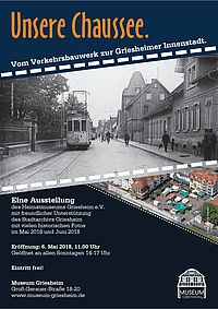 Plakat UNSERE CHAUSSEE