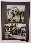 Schwarz-Weiß Bilder vom zerstörten ehemaligem Rathaus.