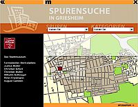 Screenshot von der Spurensuche in Griesheim aus dem Multimediaterminal.