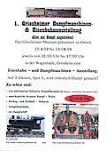 Plakat 1. Griesheimer Dampfmaschinen- und Eisenbahnausstellung