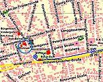Die Lage des Museums auf einem Stadtplanausschnitt